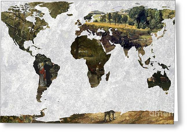 World Map Constable 2 Greeting Card by John Clark