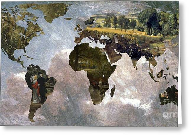 World Map  Constable  Greeting Card by John Clark