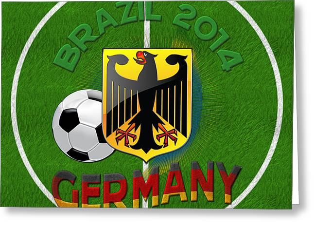 Deutschland Digital Art Greeting Cards - World of Soccer 2014 - Germany Greeting Card by Serge Averbukh