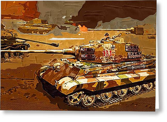 Launcher Greeting Cards - World of Tanks Fan Art 07 Greeting Card by Victor Gladkiy