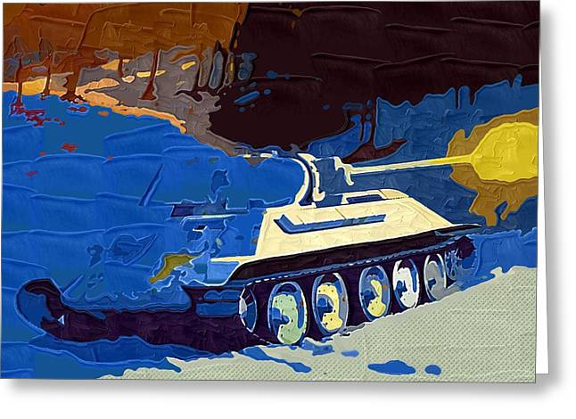 Launcher Greeting Cards - World of Tanks Fan Art 11 Greeting Card by Victor Gladkiy