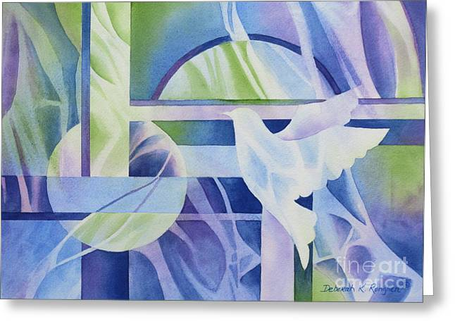 Peace Doves Greeting Cards - World Peace 3 Greeting Card by Deborah Ronglien