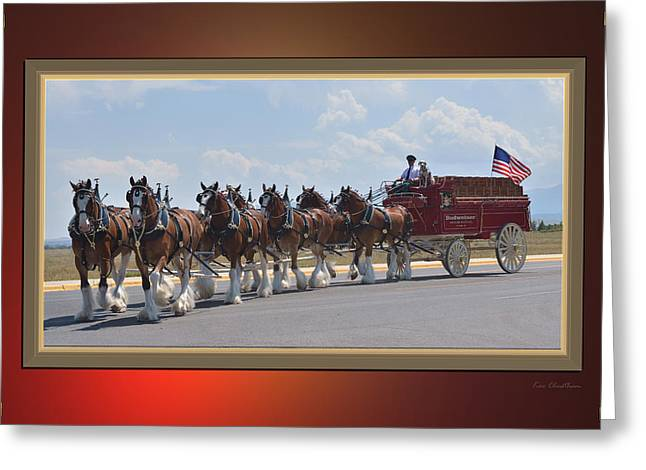 Eight Greeting Cards - World Renown Clydesdales Greeting Card by Kae Cheatham