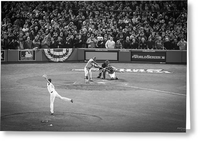Boston Red Sox Greeting Cards - World Series Game Six 7 Greeting Card by Paul Treseler