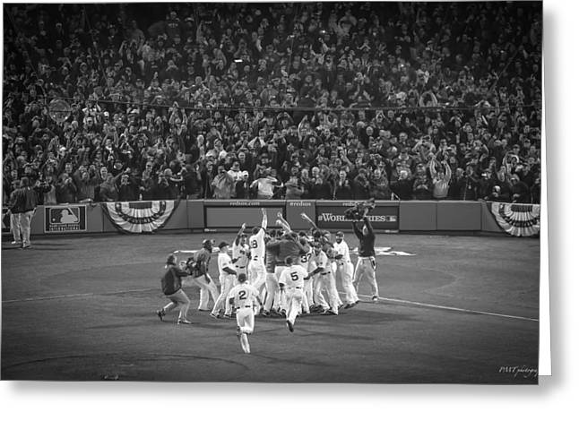 Game 6 Greeting Cards - World Series Game Six 9 Greeting Card by Paul Treseler