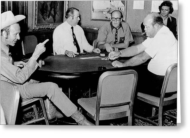 Playing Cards Greeting Cards - World Series Of Poker Greeting Card by Underwood Archives
