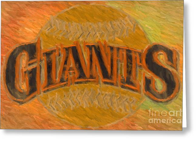 America Pastime Greeting Cards - World Series Sanfrancisco Giants Greeting Card by Jim  Hatch