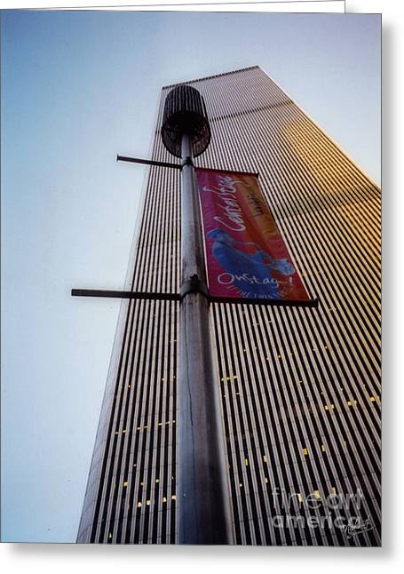 Wtc 11 Greeting Cards - World Trade Center 1971-2001 Greeting Card by Nishanth Gopinathan