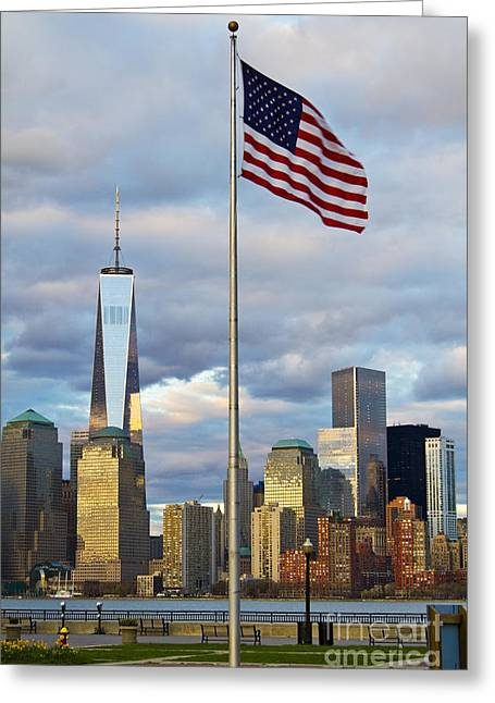 Elite Image Photography By Chad Mcdermott Greeting Cards - World Trade Center Freedom Tower in Lower Manhattan New York Cit Greeting Card by ELITE IMAGE photography By Chad McDermott