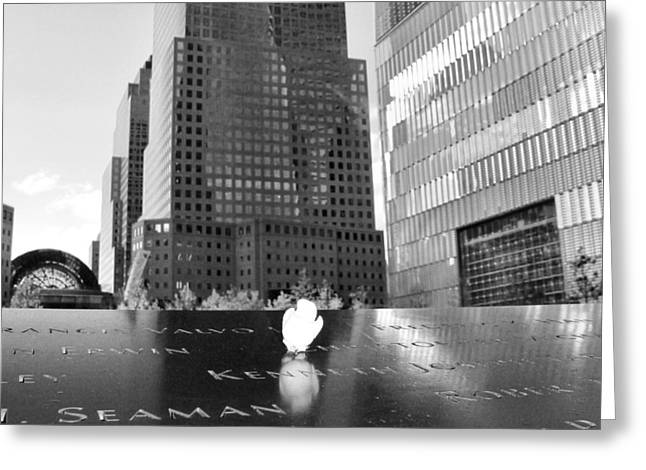 Ground Zero Greeting Cards - World Trade Center Memorial Greeting Card by Dan Sproul