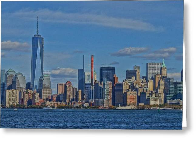 Center City Mixed Media Greeting Cards - World Trade Center Painting Greeting Card by Dan Sproul