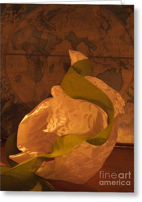 Flowing Sculptures Greeting Cards - World Traveler Greeting Card by Nancy Kane Chapman