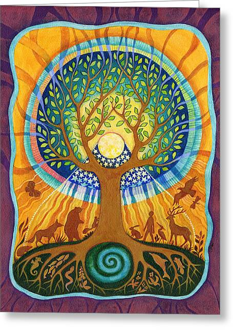 World Tree Greeting Card by Faith Nolton