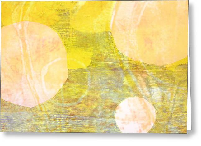 Abstract Movement Greeting Cards - World View Abstract Greeting Card by Nancy Merkle