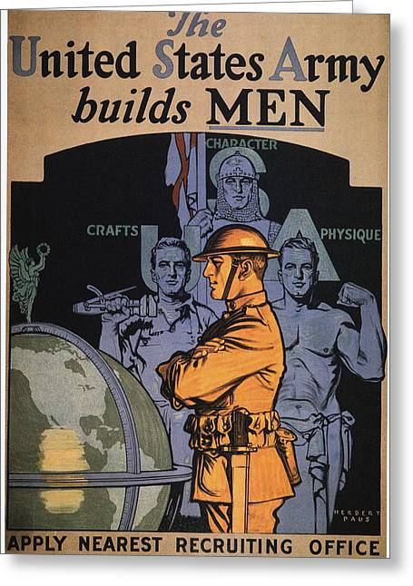 World War I Army Poster Greeting Card by Granger