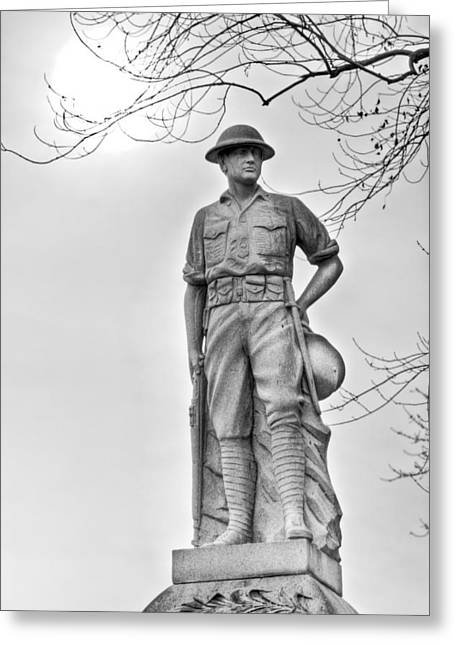 Doughboy Photographs Greeting Cards - World War I Doughboy Milford MA Greeting Card by James Wellman