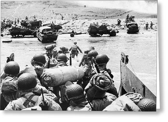 WORLD WAR II: D-DAY, 1944 Greeting Card by Granger