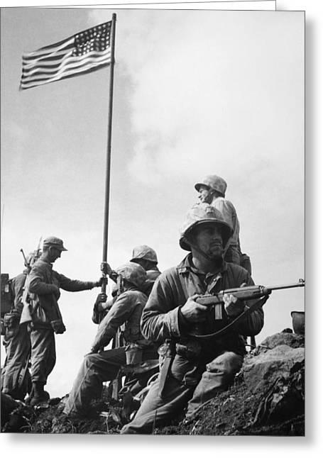 First-class Greeting Cards - World War Ii: Iwo Jima Greeting Card by Granger