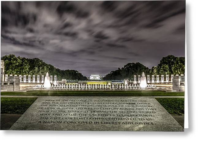 National Memorial Greeting Cards - World War II Memorial Greeting Card by David Morefield