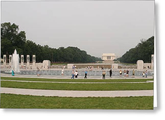 Wars Greeting Cards - World War II Memorial - Washington DC - 01131 Greeting Card by DC Photographer