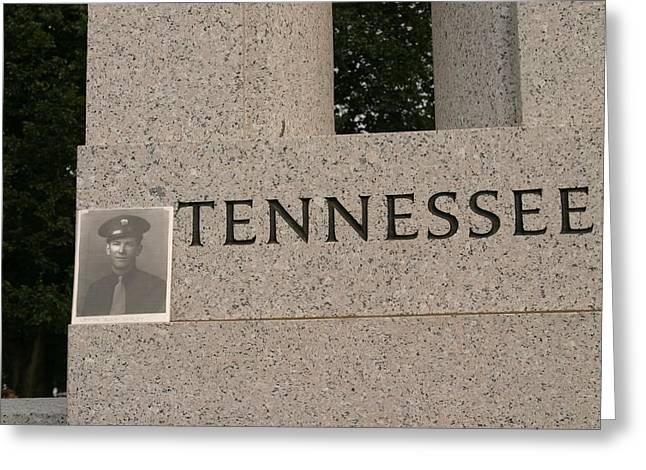Memorials Greeting Cards - World War II Memorial - Washington DC - 011310 Greeting Card by DC Photographer