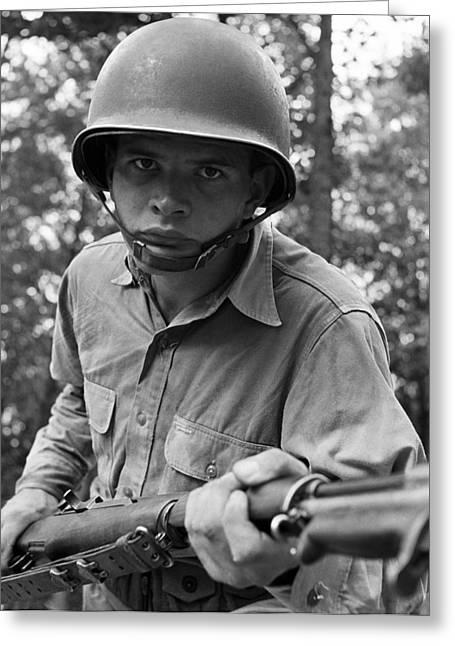 Bayonet Greeting Cards - World War Ii: Sergeant, 1942 Greeting Card by Granger