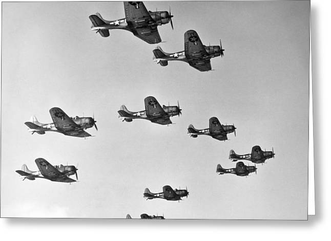 Douglass Greeting Cards - World War Ii: U.s. Bombers Greeting Card by Granger