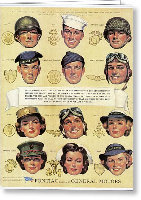 U.s. Army Air Corps Greeting Cards - World War Ii: U.s. Forces Greeting Card by Granger