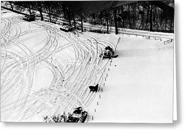 World War II: U.s. Tanks Greeting Card by Granger
