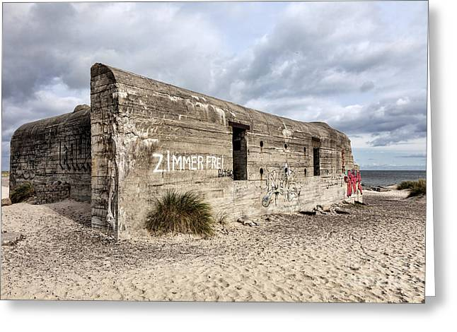 Skagen Greeting Cards - World war two bunker on Grenen in Skagen Greeting Card by Frank Bach