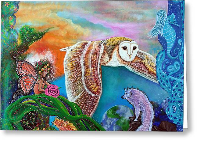 Sea Horse Greeting Cards - Worlds Away Greeting Card by Laura Barbosa