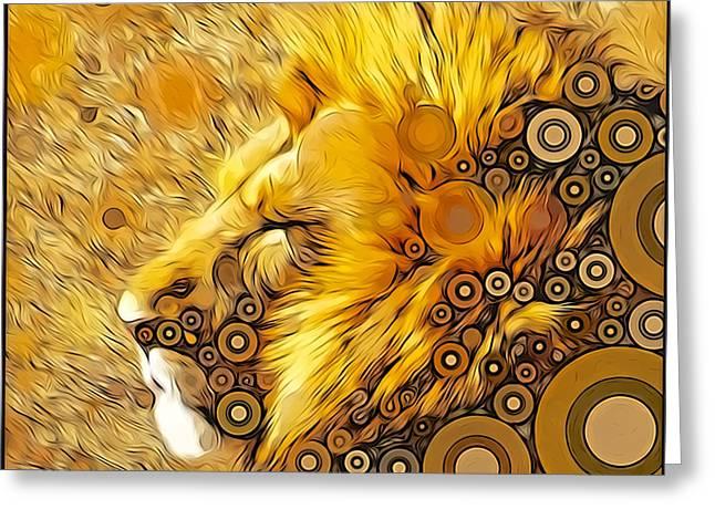 Aslan Greeting Cards - Worlds of Aslan Greeting Card by Amanda  Lakey