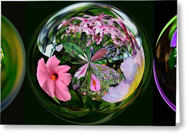 Floral Digital Art Greeting Cards - Worlds of Flowers Greeting Card by Larry Bishop
