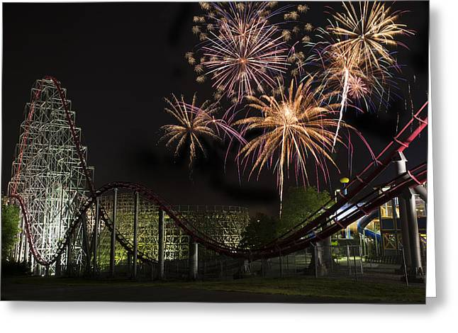 Orient Photographs Greeting Cards - Worlds of Fun - Summer Nights Greeting Card by Thomas Zimmerman
