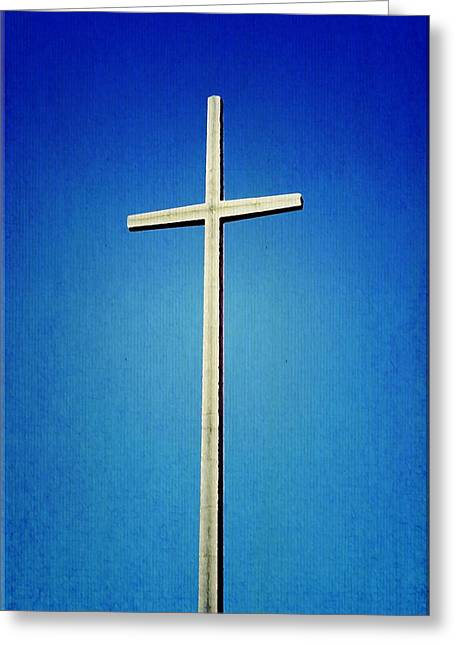 Gospel Greeting Cards - Worlds Tallest Cross Greeting Card by Laurie Perry