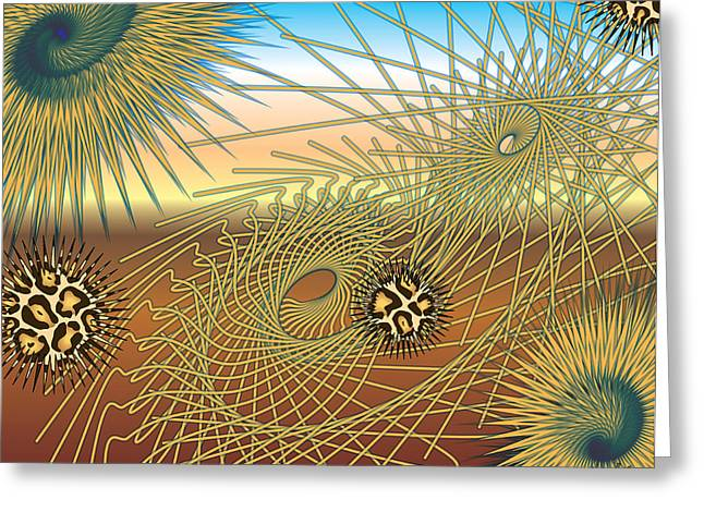 Beat It Digital Art Greeting Cards - Worm Hole Greeting Card by Charles Smith