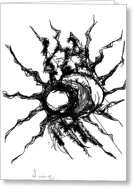 Worm Hole Drawings Greeting Cards - Worm hole Greeting Card by Mohan