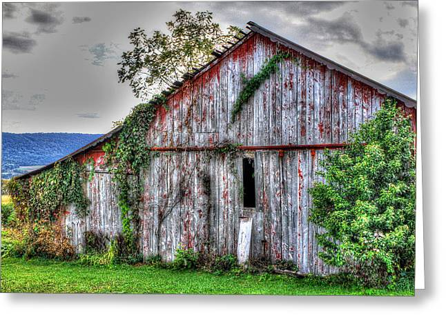 Barn Digital Greeting Cards - Worn and Tired Greeting Card by Sharon Batdorf