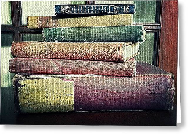 Book On A Table Greeting Cards - Worn but not Forgotten Greeting Card by Pamela Blayney