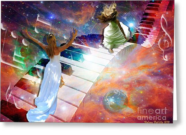 Piano Digital Art Greeting Cards - Worship in spirit and in Truth Greeting Card by Dolores Develde