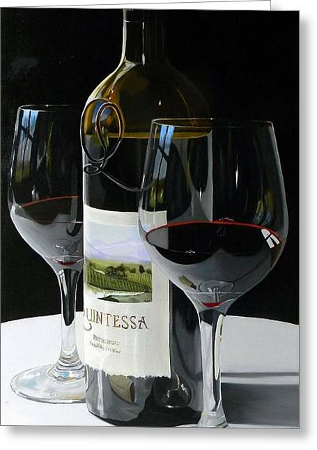 Red Wine Prints Greeting Cards - Worth The Wait Greeting Card by Brien Cole