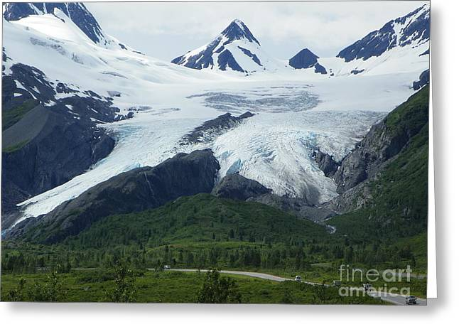 Hike Drawings Greeting Cards - Worthington Glacier Greeting Card by Jennifer Kimberly