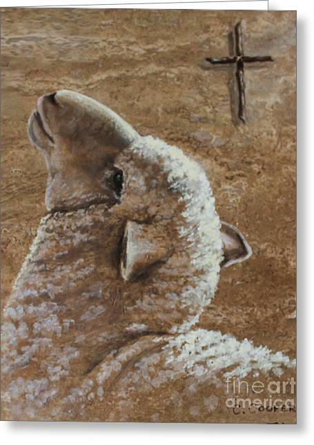 Charice Cooper Greeting Cards - Worthy is the Lamb Greeting Card by Charice Cooper