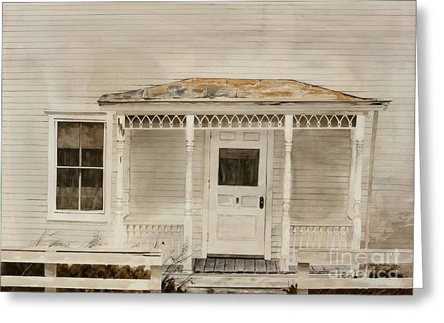 Front Porches Greeting Cards - Would Mother Ann Approve Greeting Card by Monte Toon