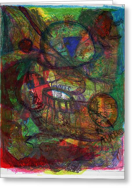 Abstract World Greeting Cards - Wound Greeting Card by James Thomas