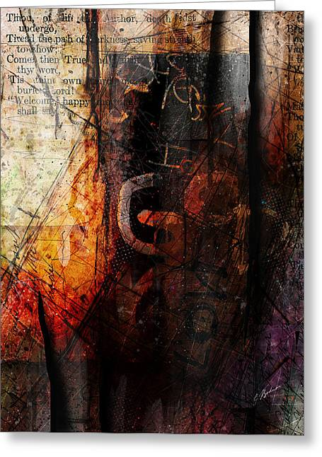 Scripture Mixed Media Greeting Cards - Wounded  Greeting Card by Gary Bodnar