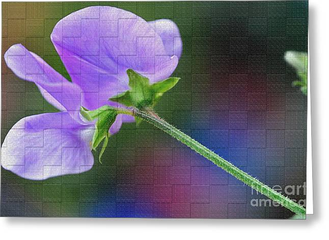 Floral Digital Art Digital Art Greeting Cards - Woven Floral Greeting Card by Kaye Menner