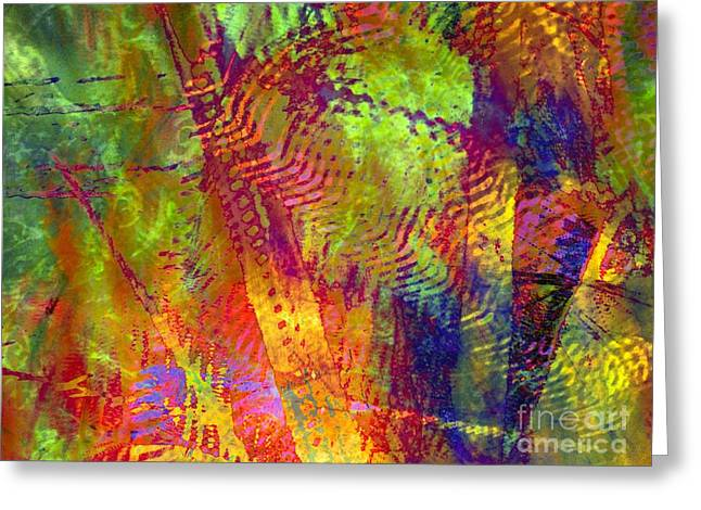 woven light Greeting Card by Sandy Moulder