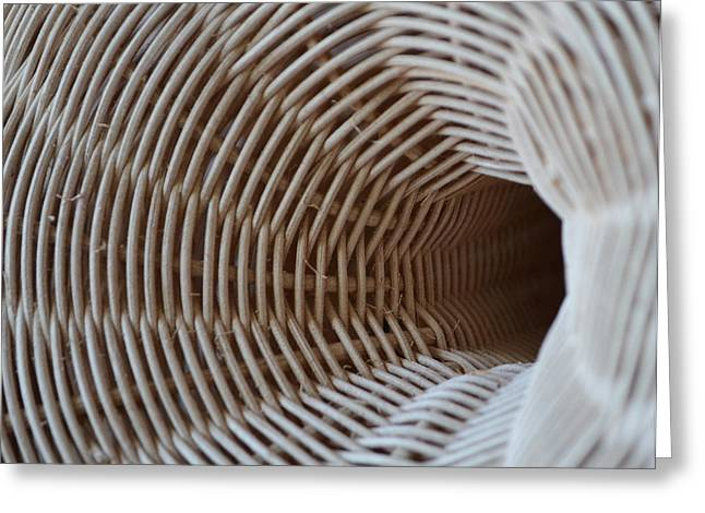 Entrances Sculptures Greeting Cards - Woven Tunnel II Greeting Card by Daniel P Cronin