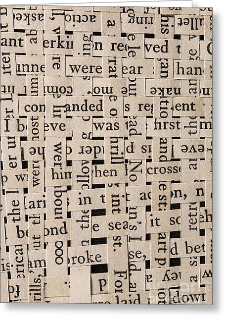 Sense Greeting Cards - Woven Words Greeting Card by Edward Fielding